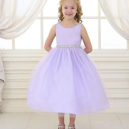 Lilac Ball Gown Flower Girl Dresses..