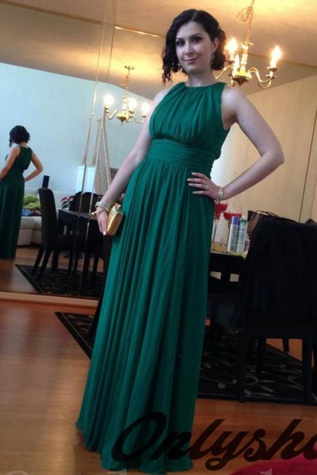 Bridesmaids Dresses,Chiffon Bridesmaids Dresses,Gem Green Bridesmaids Dresses,Long Bridesmaids Dresses,Wedding Party Dress
