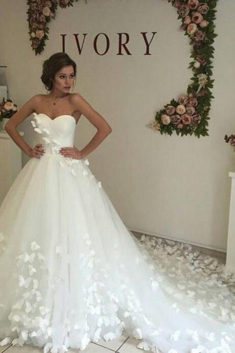 White Wedding Dress,Ball Gown Wedding Dresses,Plus Size Wedding Dresses,Bridal Dresses,Bridal Gown