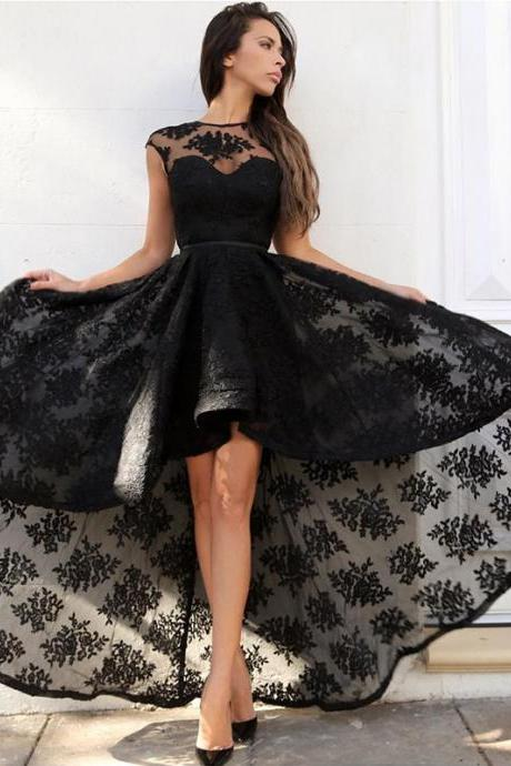 High Low Lace Little Black Dresses