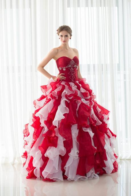 Red Quinceanera Dresses, Quinceanera Gown,Formal Gowns,Evening Dress