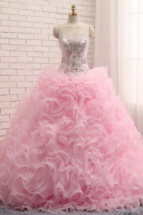 Sweetheart Quinceanera Dresses ,Ball Gown Quinceanera Dresses,Quinceanera Gown,Pink Quinceanera Dresses,Crystals Quinceanera Dresses,First Communion Dresses,Prom Gown,Christening Dresses,Communion Dresses
